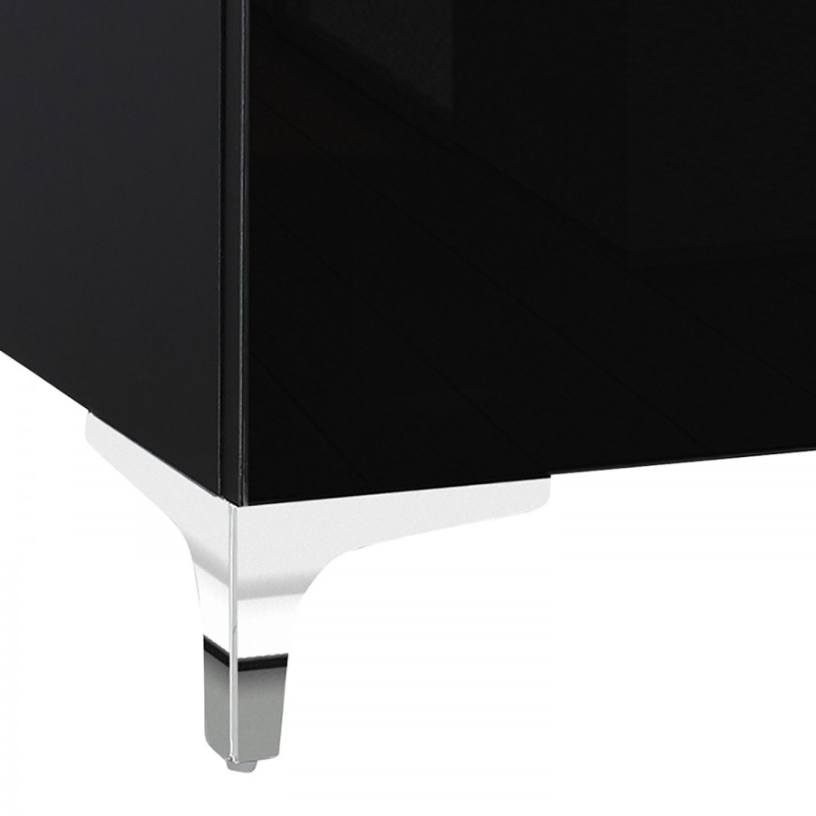 Schwarz Tv lowboard Shino Ii Glas 0vN8mnw