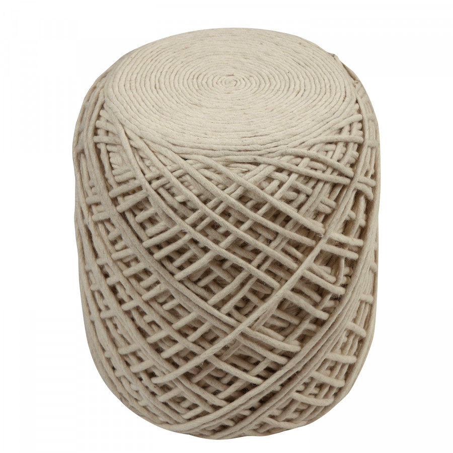 WollePolyesterNatur Ii Pouf Rope Ii Rope Pouf Ybf7y6g