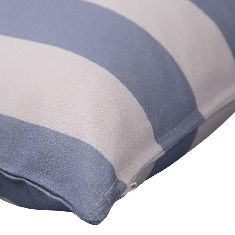 BaumwollstoffBlauEcru Stripes Kissenbezug big T Kissenbezug Stripes T big vnNw80Om