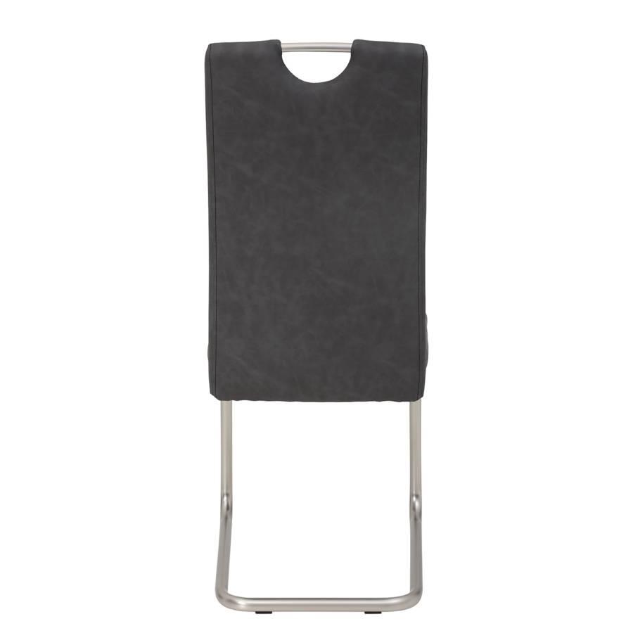 Grau setKunstlederStahlMatt Vintage Liston2er Freischwinger Silber BedxrCo