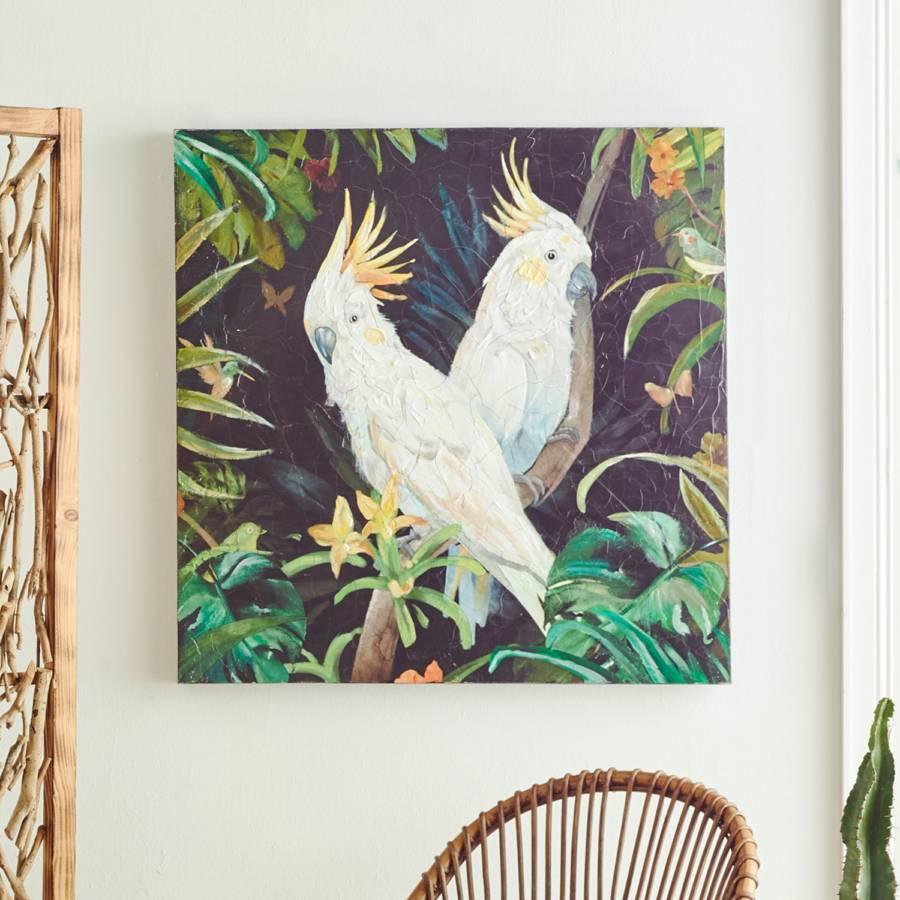 Kakadu LeinwandKiefernholzMehrfarbig Bild Bild Kakadu Bild LeinwandKiefernholzMehrfarbig N80vmnwO