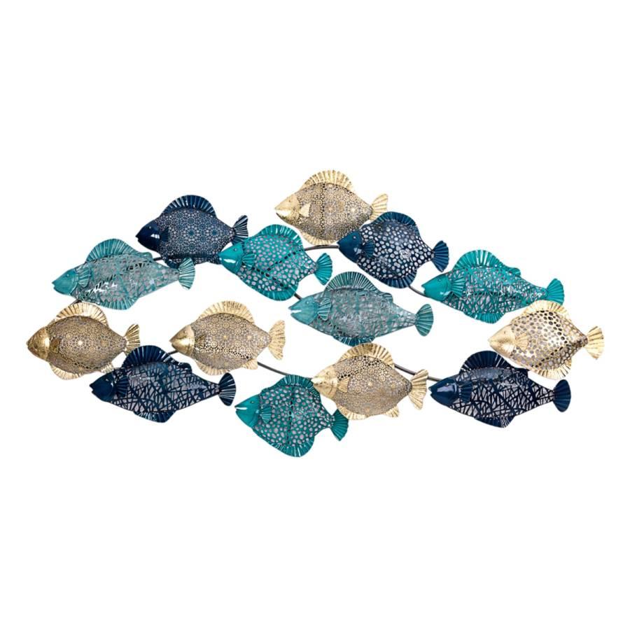 Wandobjekt MetallBlau Fish Wandobjekt Fish MetallBlau MetallBlau Wandobjekt Fish dCtQrsh