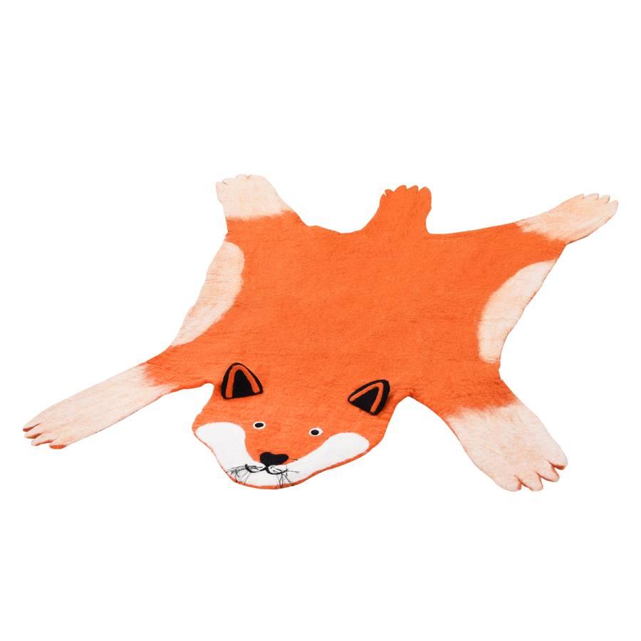 Fibres 100 En Foxy X Cm Tapis Feutre NaturellesOrangeBeige Fox 125 wkZuPOXiT