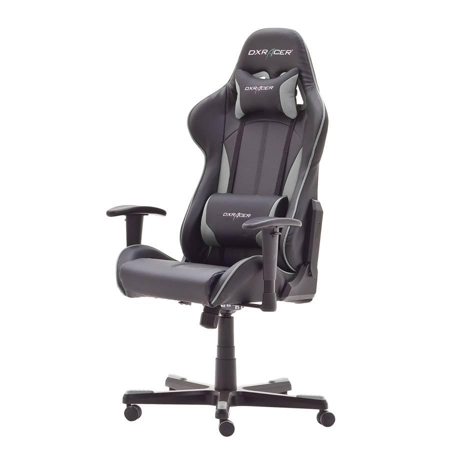CuirNoirGris Gamer Dx Imitation racer 8 Chaise BeWxrdCo