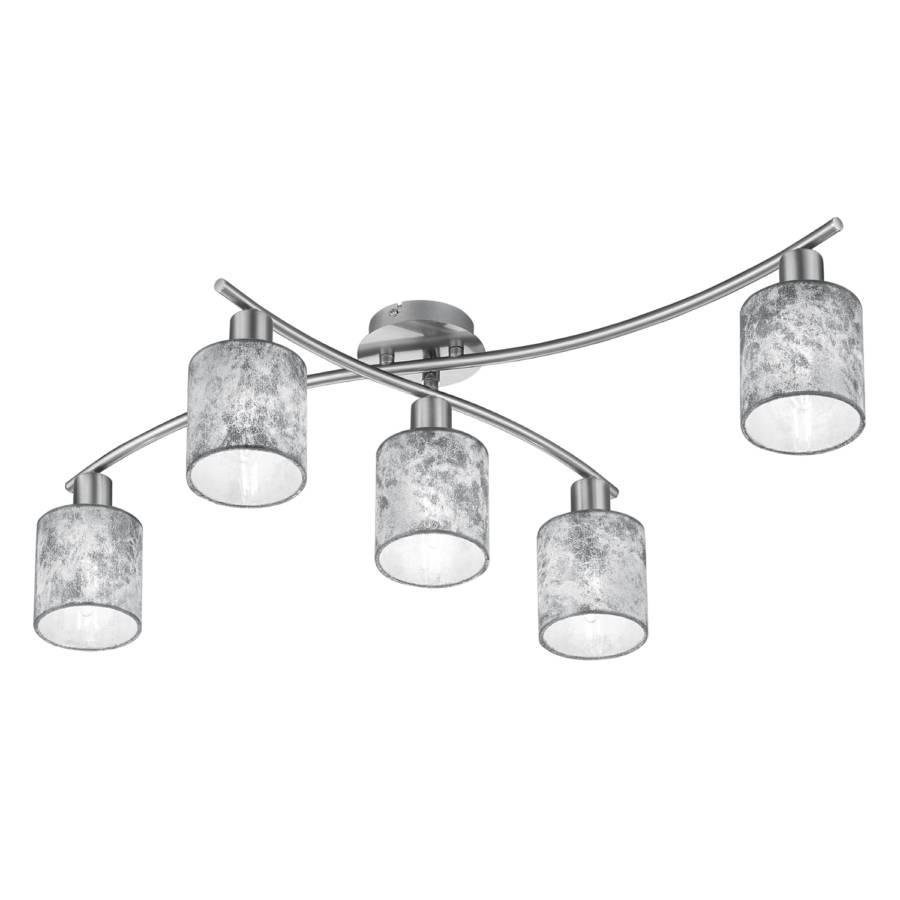 MélangéNickel5 Ampoules Argenté Plafonnier Ii Tissu Garda yNmwv8nO0
