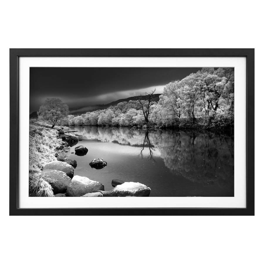 LindeSchwarzWeiß River River Bild Bild Massivholz Snowy Snowy Massivholz gY7bf6yv