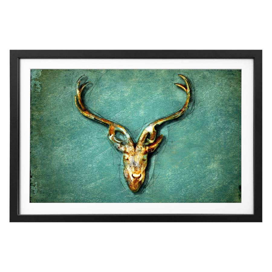 Bild Massivholz LindeMehrfarbig Deer The qGSpzMUV