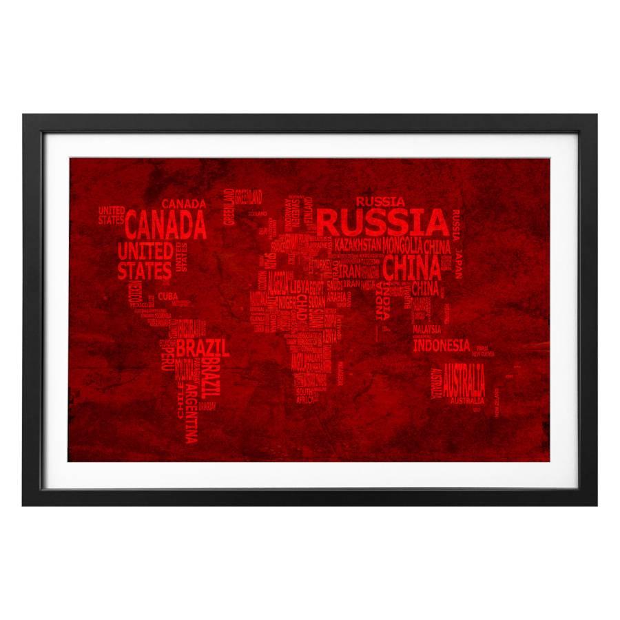 Bild Massivholz Massivholz 18 Bild LindeSchwarzWeiß Worldmap LindeSchwarzWeiß Bild 18 Worldmap rEQCxoWdBe