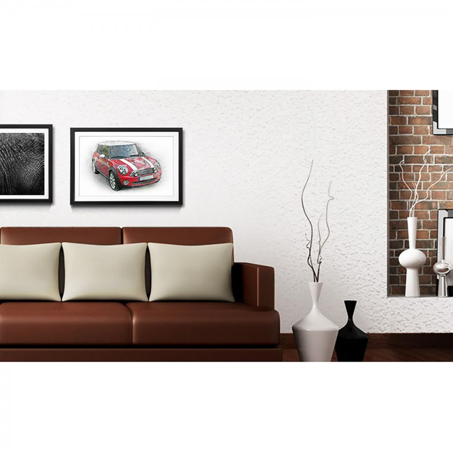 Bild Mini Cooper Mini LindeMehrfarbig Massivholz Bild fm6IY7ybgv