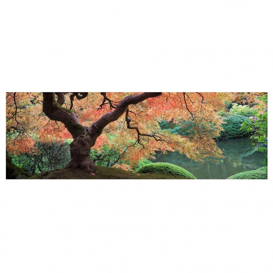Cm Bild FichteMehrfarbig X Japanischer Garten 180 I LeinwandMassivholz 60 CQxoeWdBr