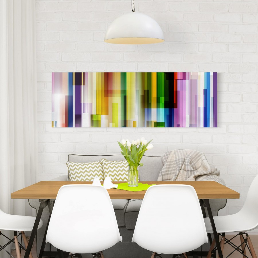 Cubes FichteMehrfarbig Rainbow 150 LeinwandMassivholz Cm Bild I 50 X 8wZOPXNn0k