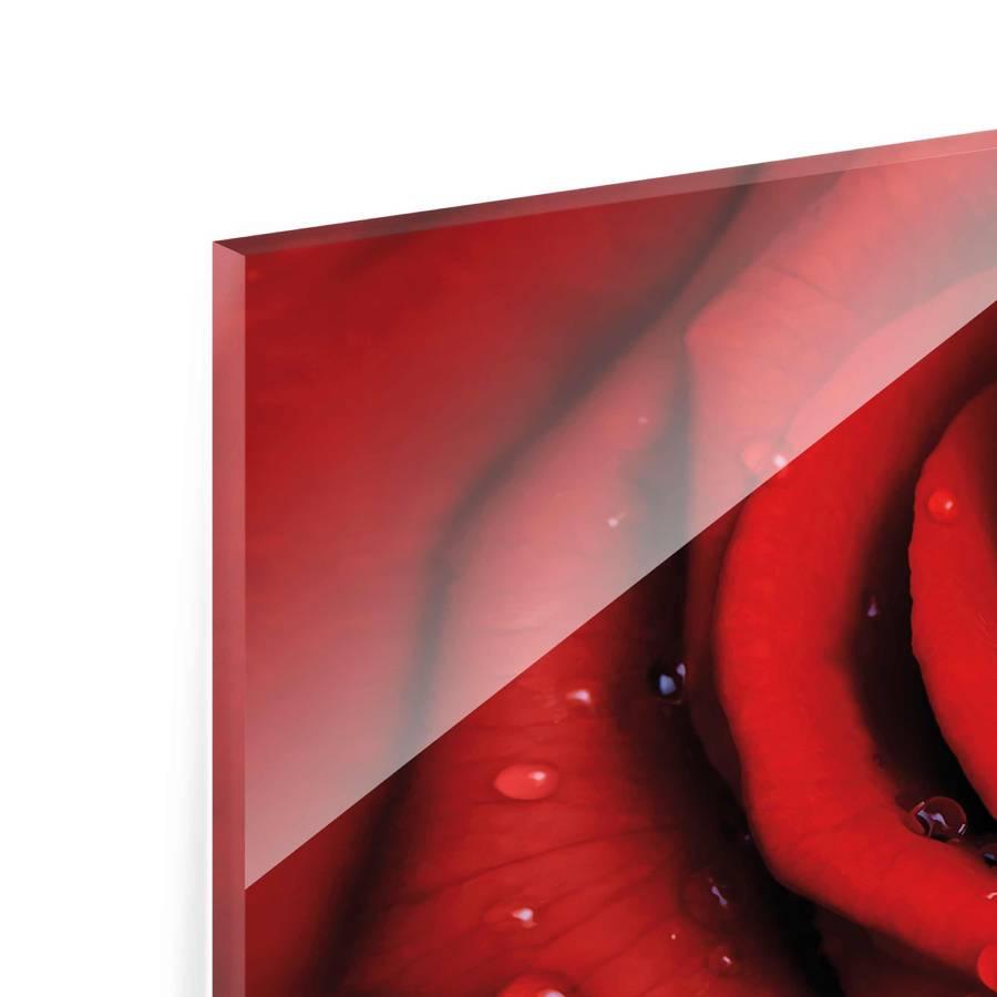 Wassertropfen EchtglasMehrfarbig 40 100 Starkes Rose Rote Mit Cm Bild X tsxrdChQ