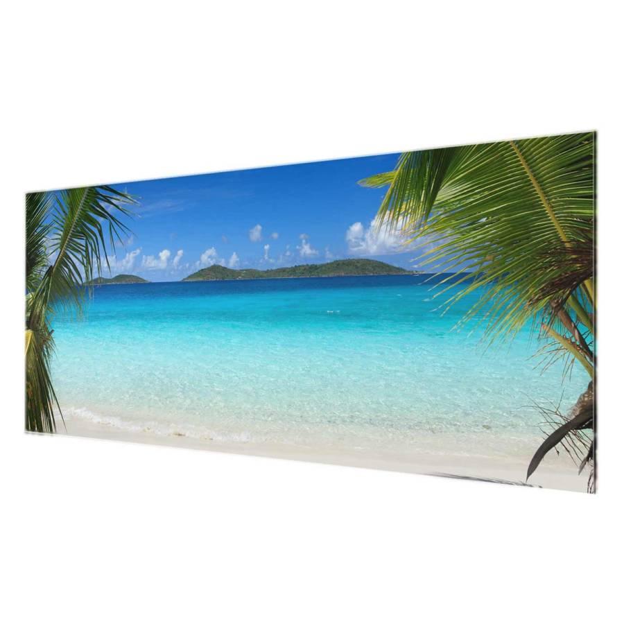 Tableau Déco 125 X Maledives Véritable 50 Cm Perfect Verre RésistantMulticolore 3q4RA5jL