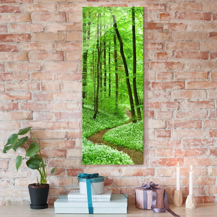 Cm Romantischer X Waldweg Starkes EchtglasMehrfarbig 100 40 Bild ordxBWCe