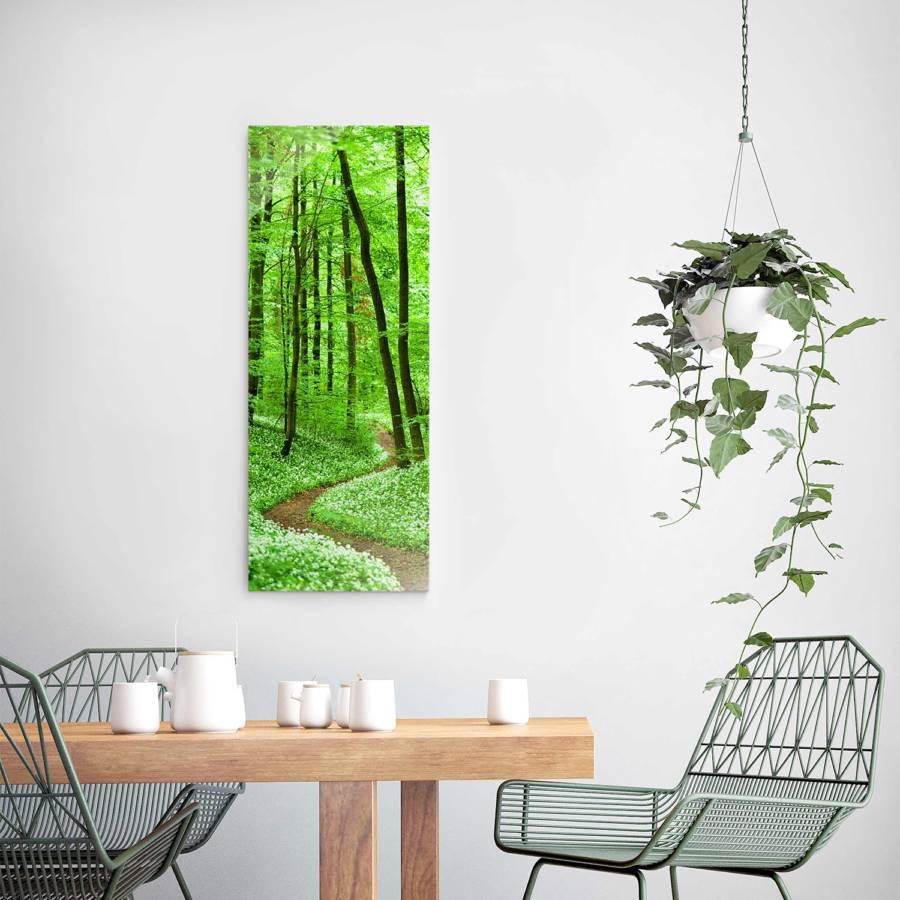 Déco Chemin X RésistantMulticolore Dans Véritable La Forêt Tableau 125 Verre Cm 50 8nNOvmy0wP