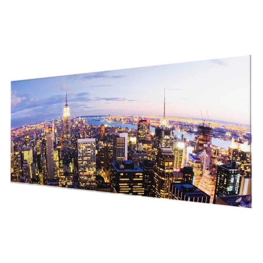 EchtglasMehrfarbig New Cm Skyline Bei X 50 York Starkes Bild Nacht 125 POknw0