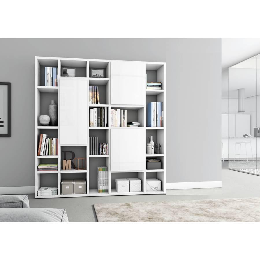 Hochglanz Vii Weiß214 Emporior Bücherregal Cm nP0Owk