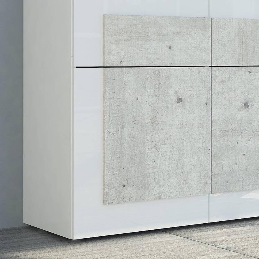 WeißBeton Dekor I Sideboard Orizzonti Hochglanz 6fbgy7