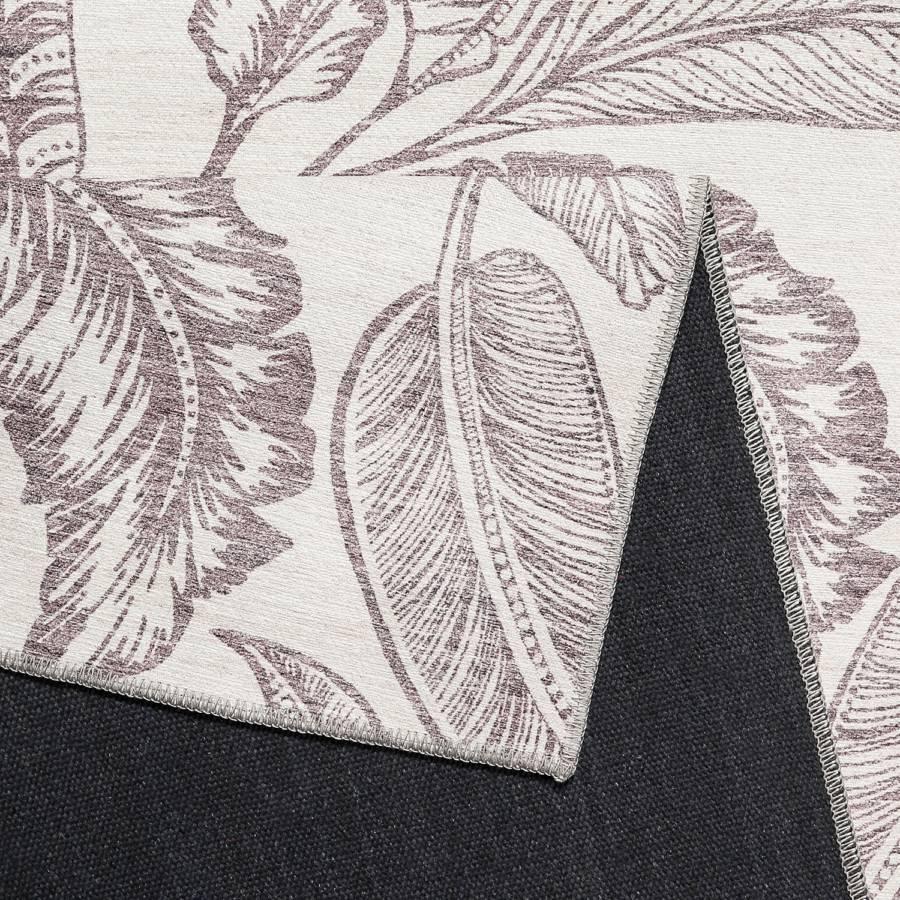 80 WebstoffAubergineWeiß 150 Palm Mozambique X Kurzflorteppich Cm XwOPkZTiu