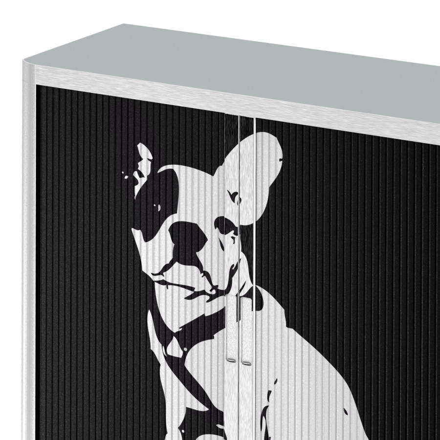 Rollladenschrank Art WeißSchwarz Pop Dog Easyoffice bY6yIvf7g