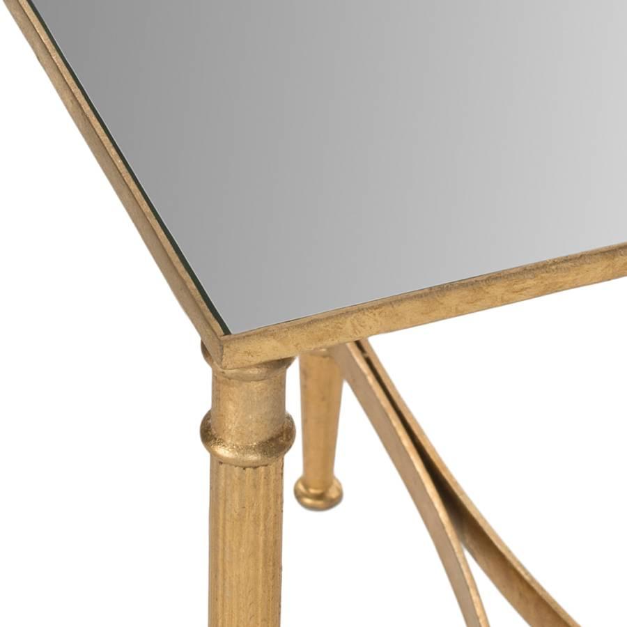 Nevin Gold Nevin Eisen Gold Eisen Beistelltisch Beistelltisch spiegelglas qpMUSzV