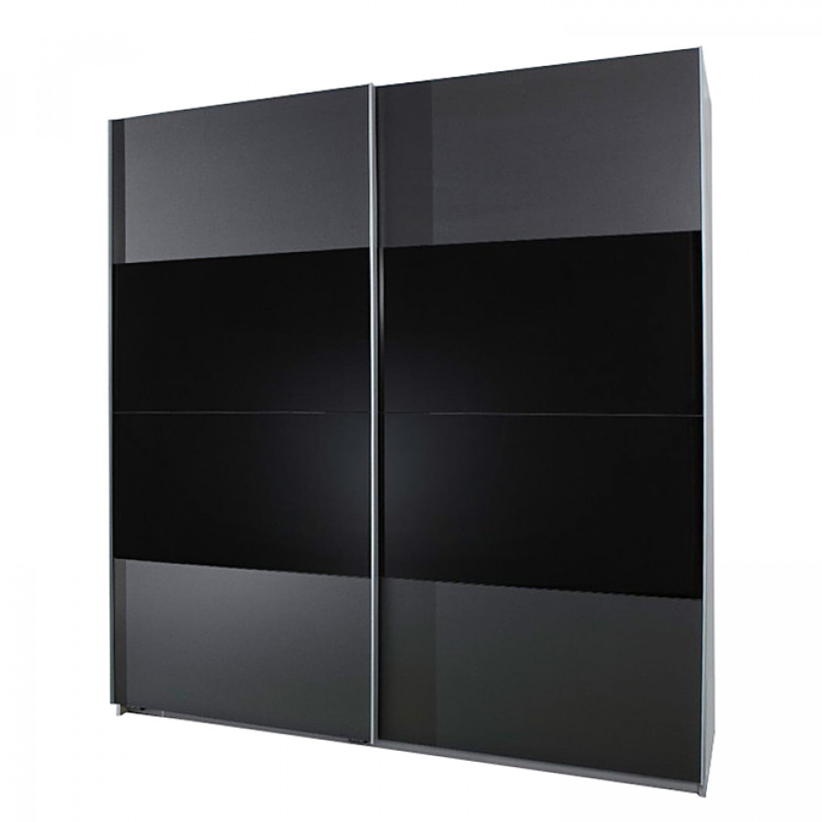 Schuifdeurkast Zwart Glas.Schuifdeurkast Marla Antracietkleurig Zwart Glas Enter Home24 Be