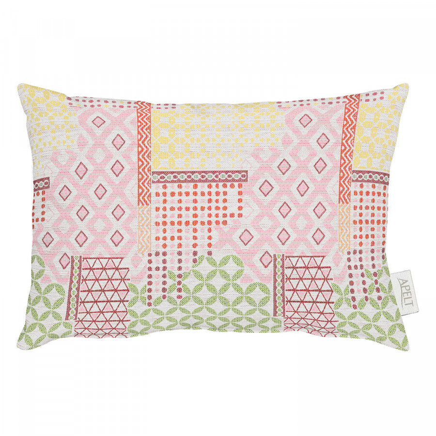 Coussin Pattern Easter Décoratif Happy TissuJauneRouge roQBCxWEde