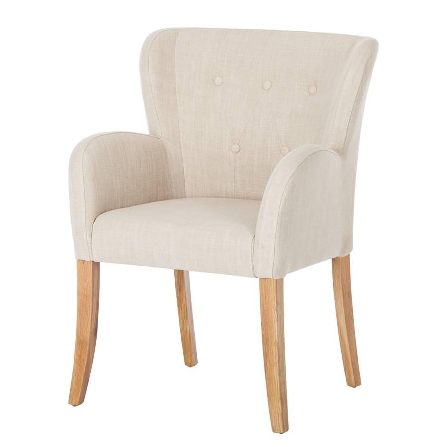 Malerisch Beige Stühle Referenz Von Armlehnstuhl Bakersfield - Webstoff / Eiche Massiv