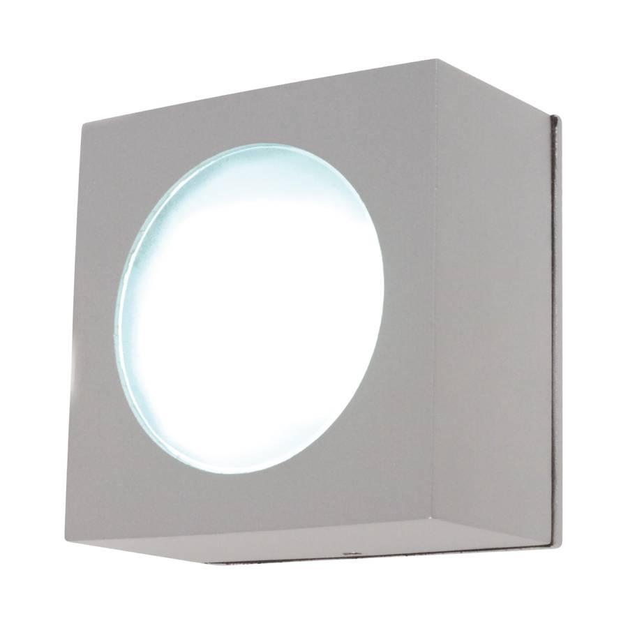 Square Argenté Extérieur Ampoule 1 Applique Aluminium Murale plafond wkZiOlPXuT