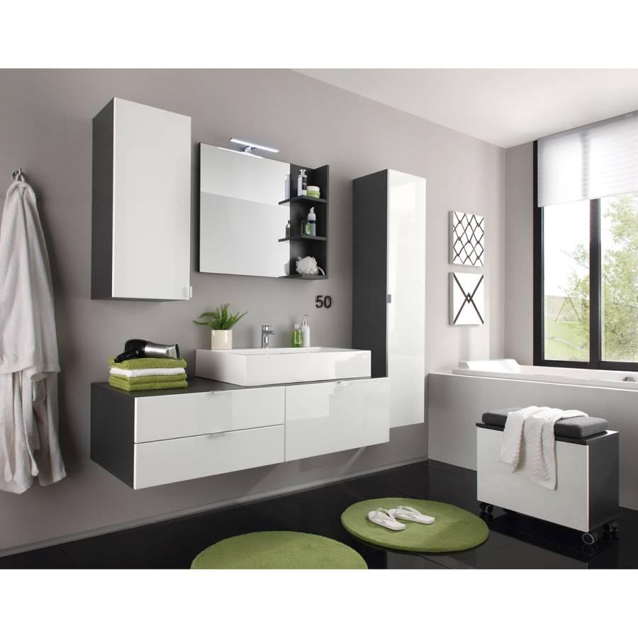 Badezimmer Set Weiß.Badezimmerset Casi 4 Teilig