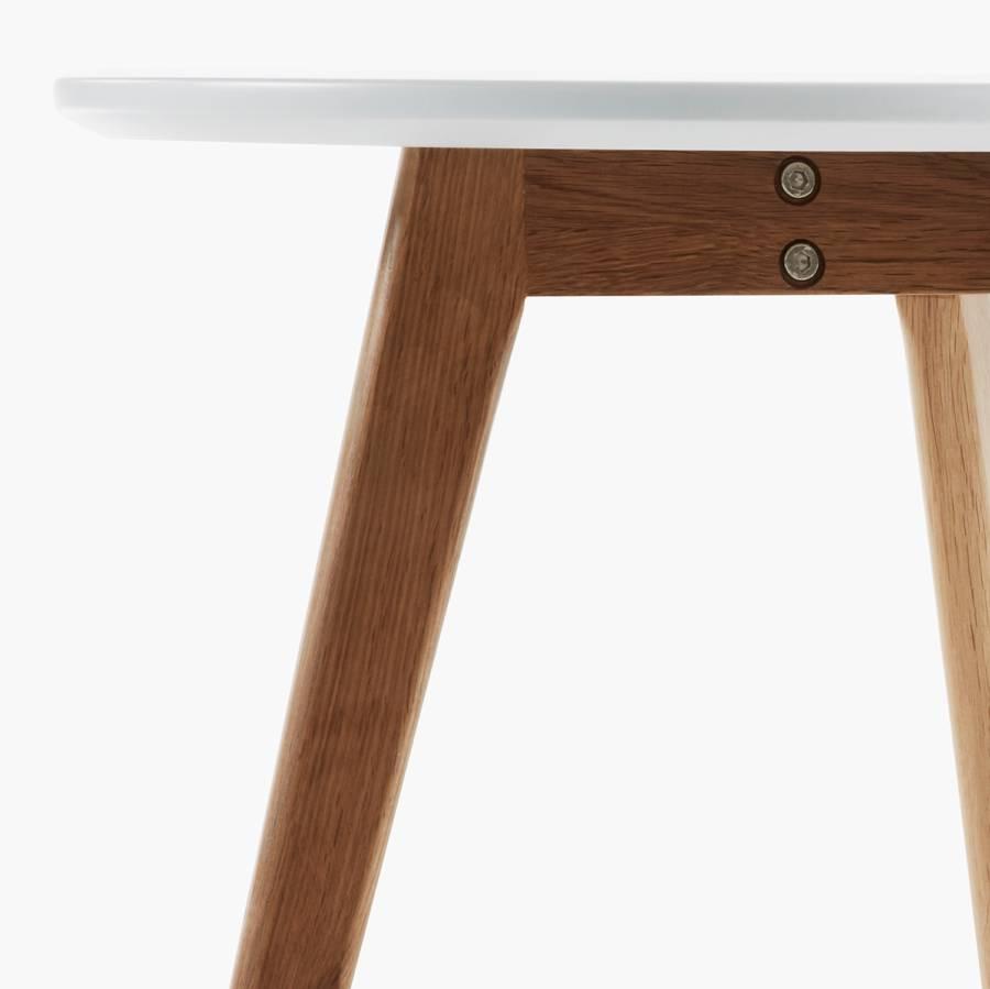 Tables 2BlancChêne De Partiellement D'appoint Massif Ockelbolot n0kOwP