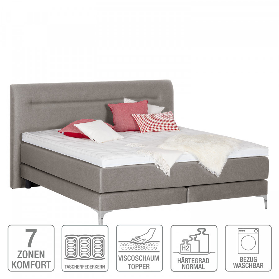 200cm Lit X Boxspring Almade Gris140 DHYWE2e9I
