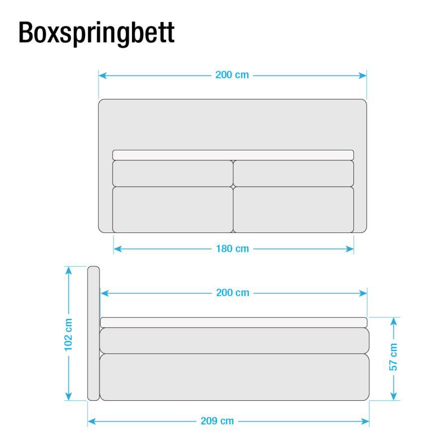 Japura Boxspringbett Japura Schwarz180 Boxspringbett X 200cm vmN8wn0