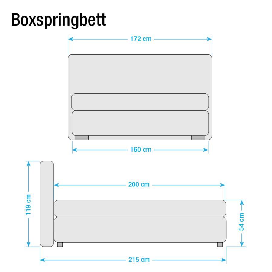 160 Anthrazit Lifford 200cmH3 Bonellfederkernmatratze X Boxspringbett rBWdeCox