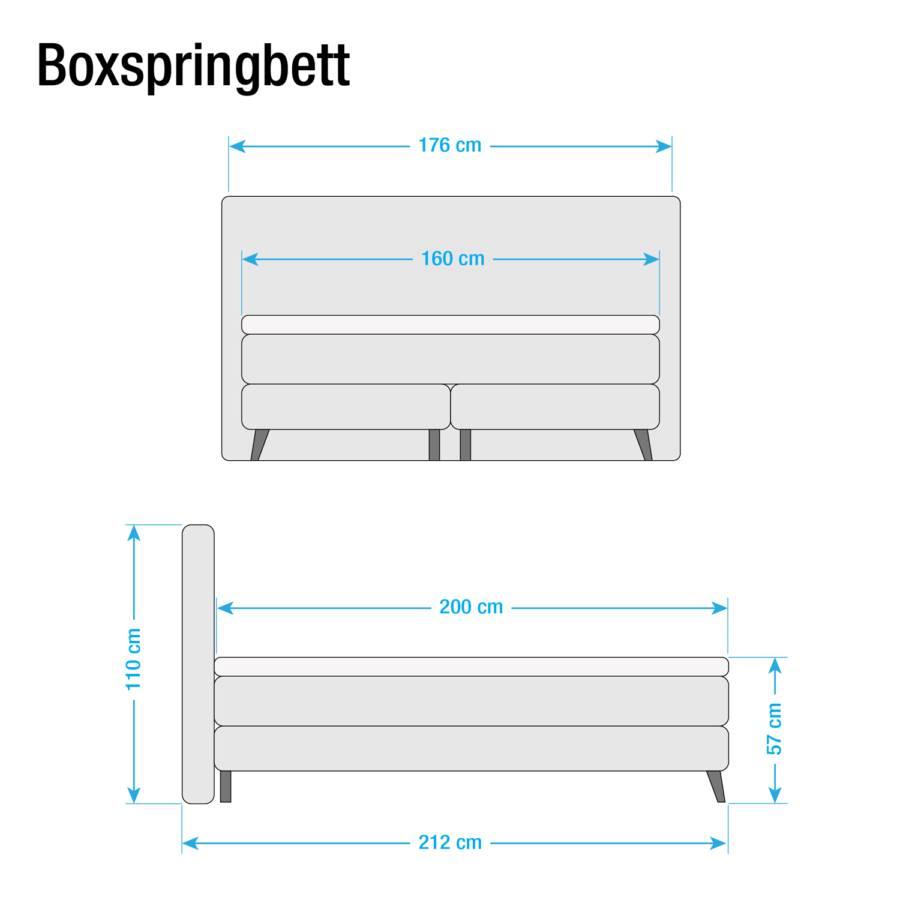 Beige160 X 200cm Lit Mälby Boxspring QdxCsrth