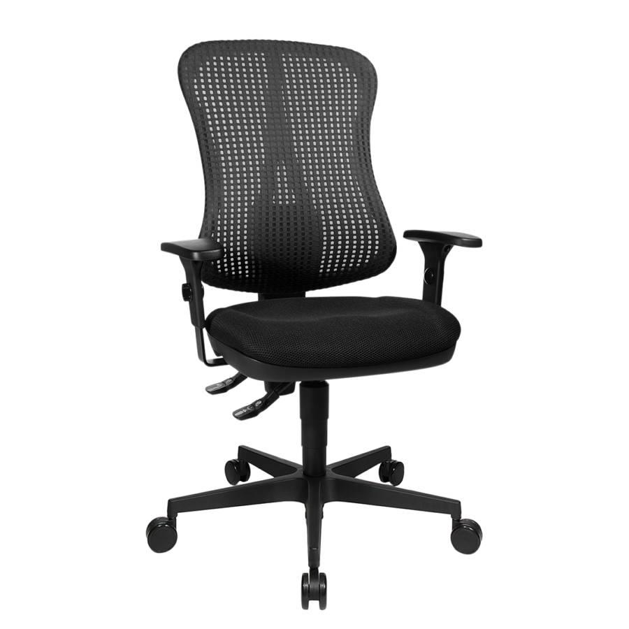 Point Ohne Bürodrehstuhl Head Armlehnen Kopfstütze SchwarzHöhenverstellbare uTZPiwOkX