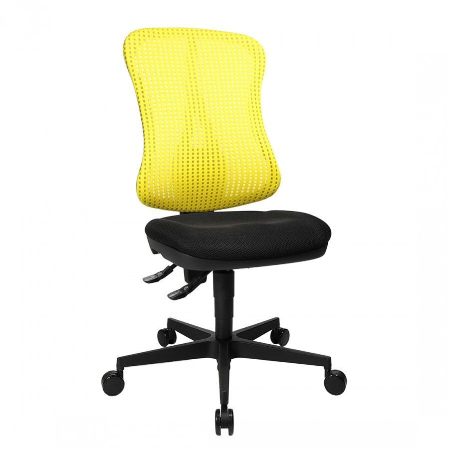 Bürodrehstuhl Armlehnen GelbSchwarzOhne Head Kopfstütze Point nXP8wO0k