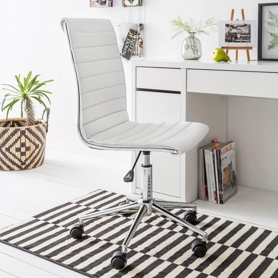 Marilyn Imitation CuirBlanc Bureau Chaise De qc5SL3RA4j