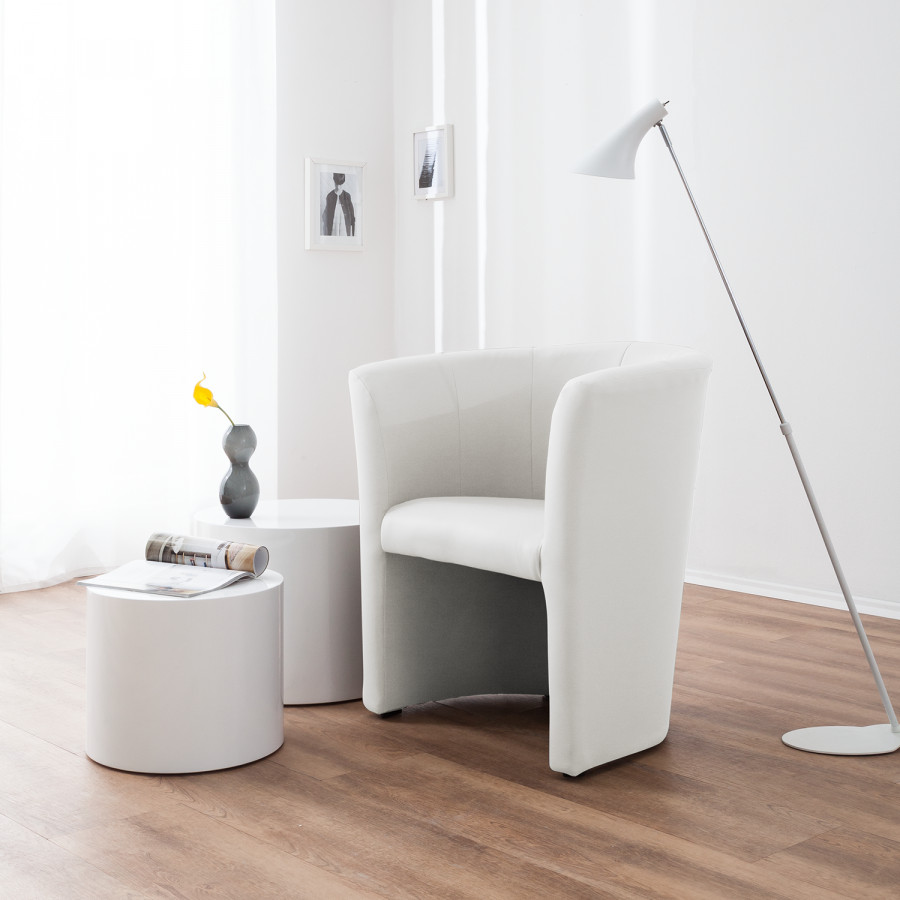 Fauteuil CuirBlanc Cocktail Sinclair Fauteuil Imitation Cocktail OkwP0N8nXZ