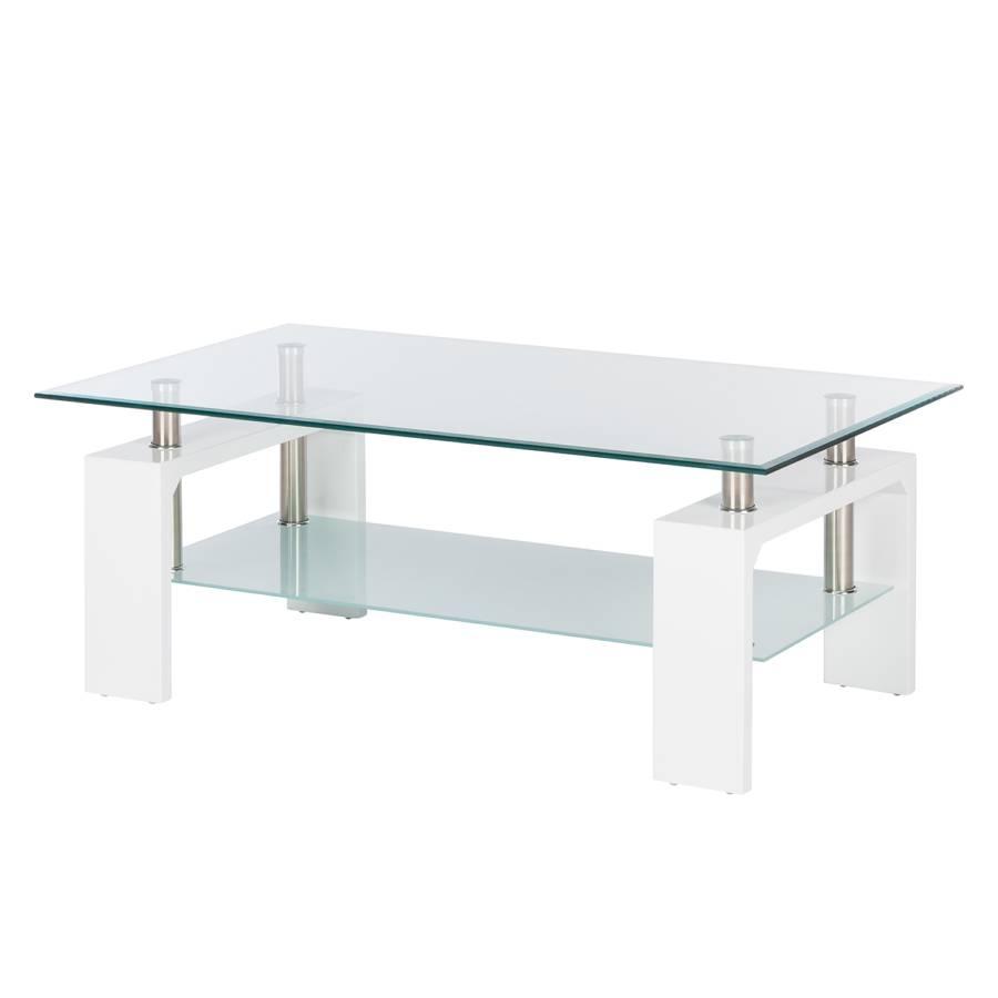 Witte Salon Tafel Met Glas.Salontafel Dokka Glas Hoogglans Wit Home24 Nl