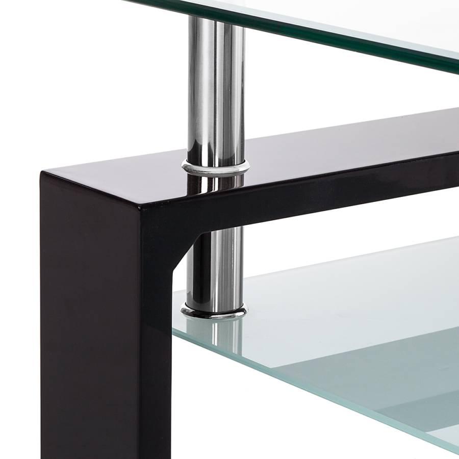 Basse TransparentNoir Table Glassy Glassy Basse Verre Table 0mwN8n