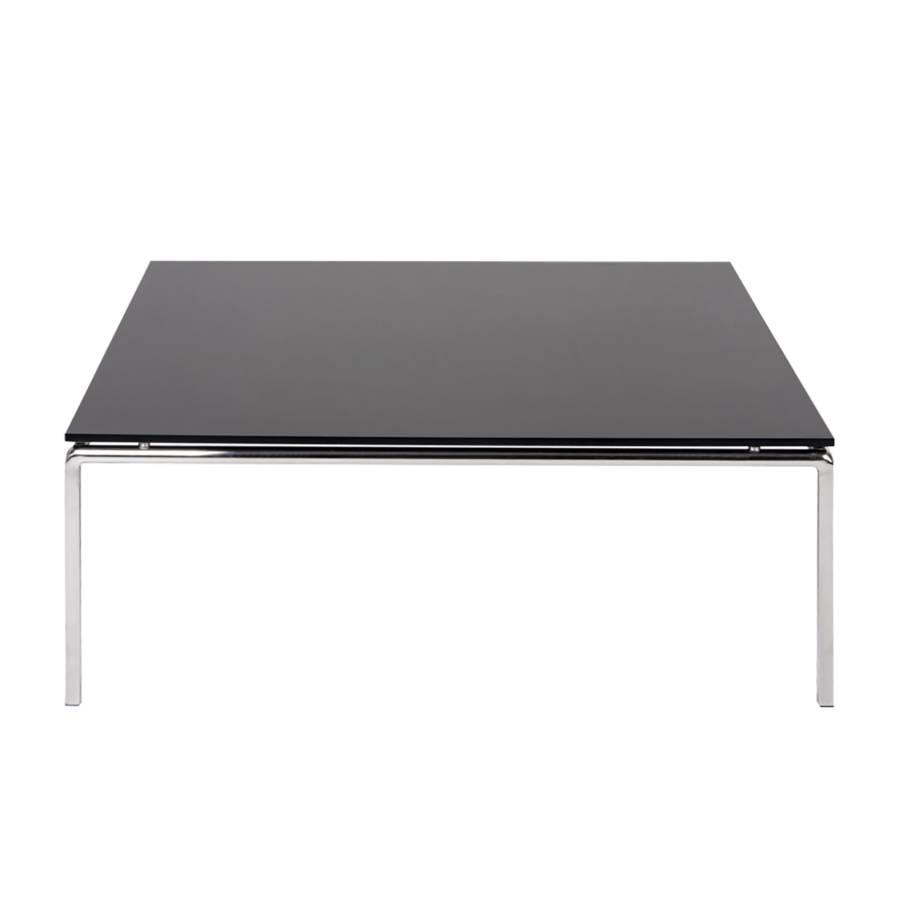 Basse Julian Table VerreAcier Table InoxydableNoir gIYfymb76v