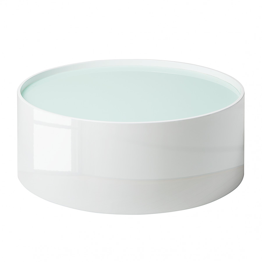 Hoogglans Witte Salontafel Met Glasplaat.Salontafel Lounge Hoogglans Wit Home24 Nl