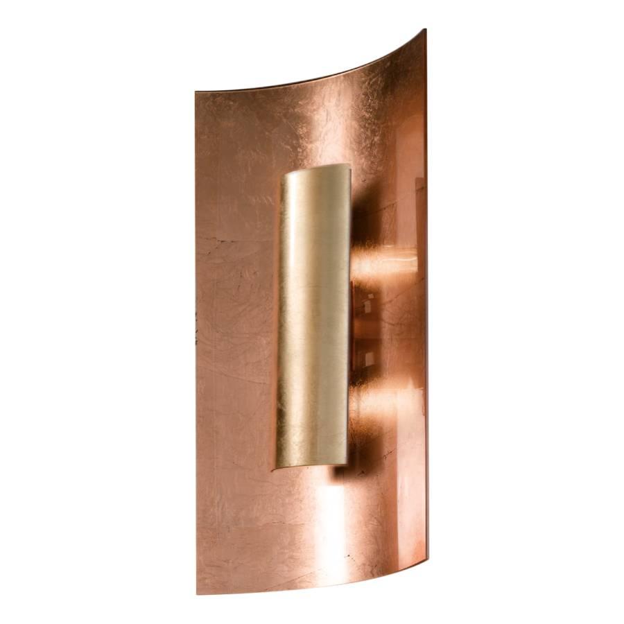 Kupfer Wandleuchte Cm flammig 2 Aura 45 MetallGlasGold EHY2WD9I