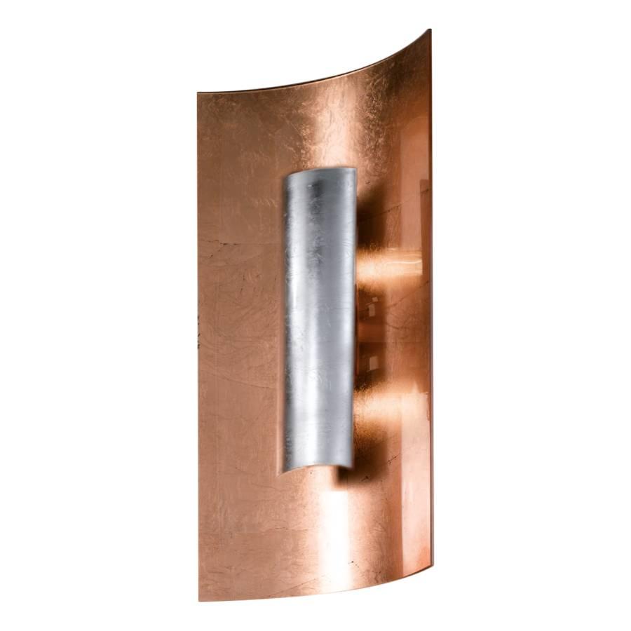 2 Aura flammig 45 Cm MetallGlasSilber Wandleuchte Kupfer 8wn0OPkX