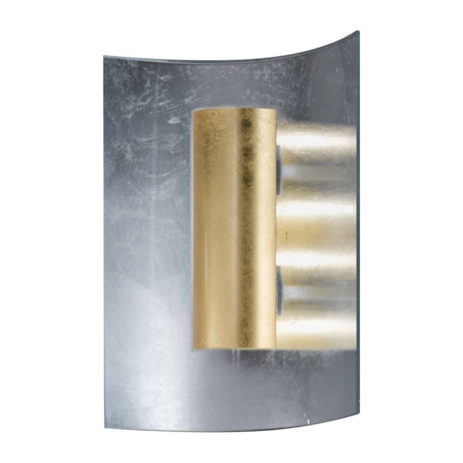 Deckenleuchte gold2 Silber flammig Aura Silber Metall glas AR4j3Lq5