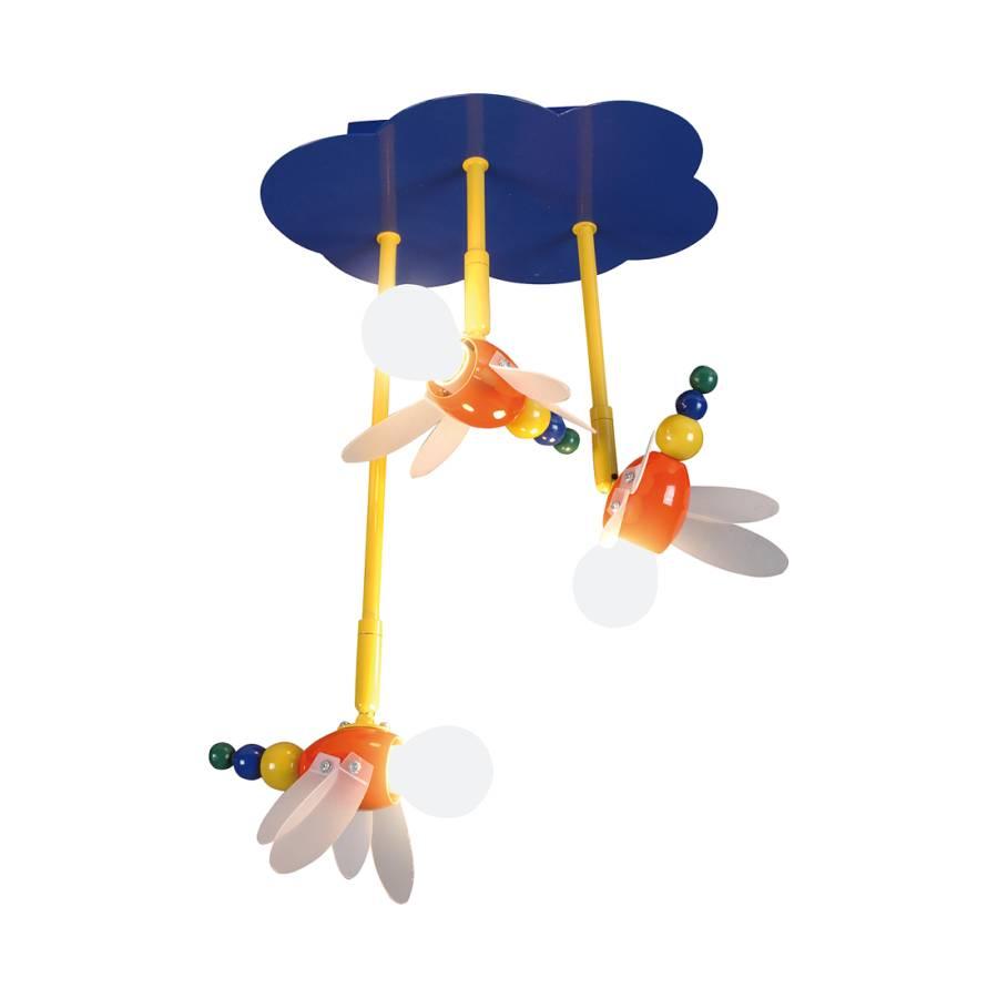 Plafonnier Fly Ampoules MétalMatériau Multicolore 3 Synthétique vwOm8n0N