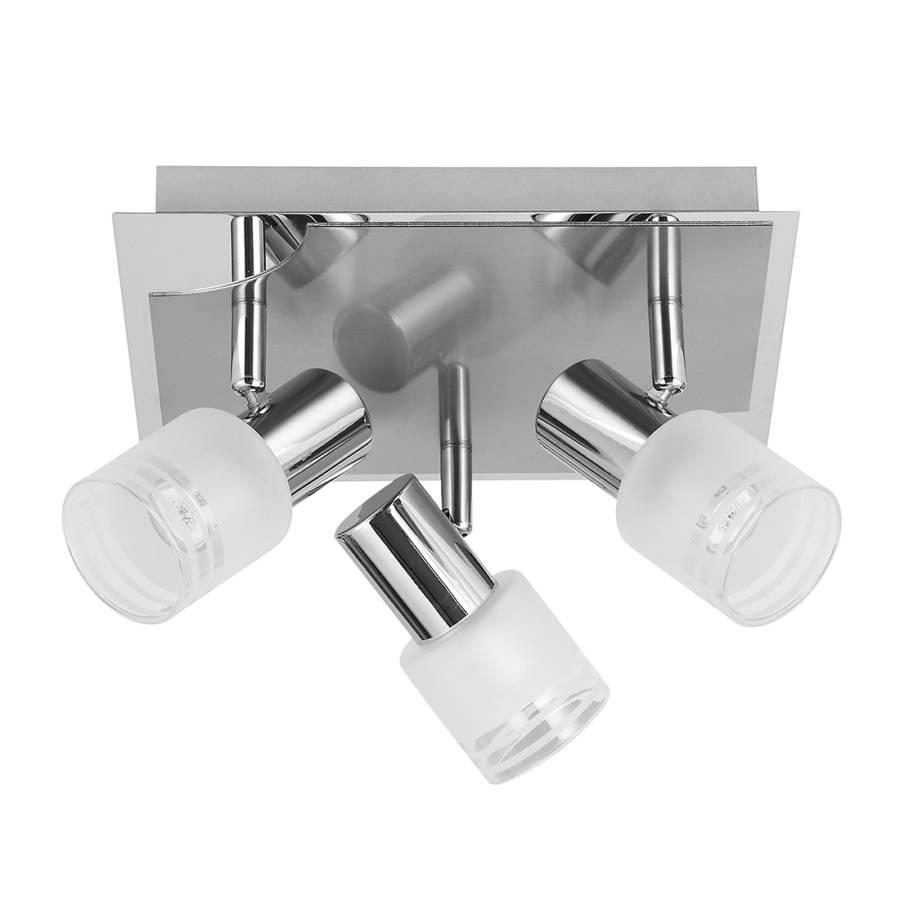 Metall Deckenleuchte Lea 3 flammig glasSilber I76bvfYgy