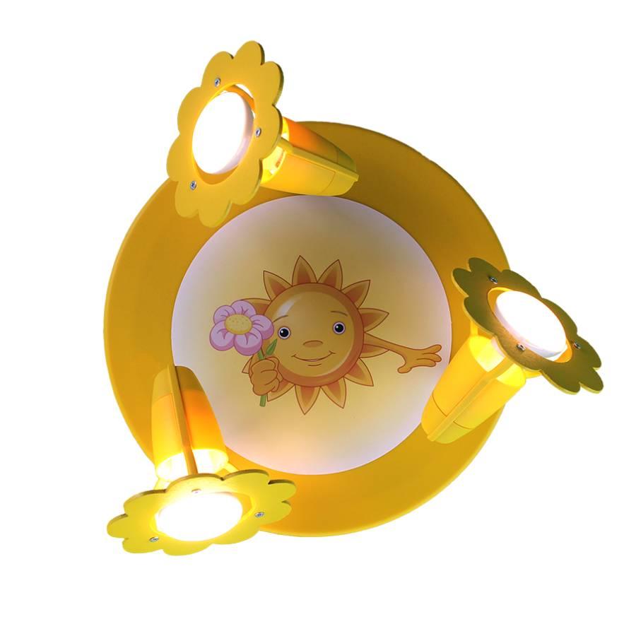 3 Avec Plafonnier Soleil Fleur Bois Ampoules PZiukTOX