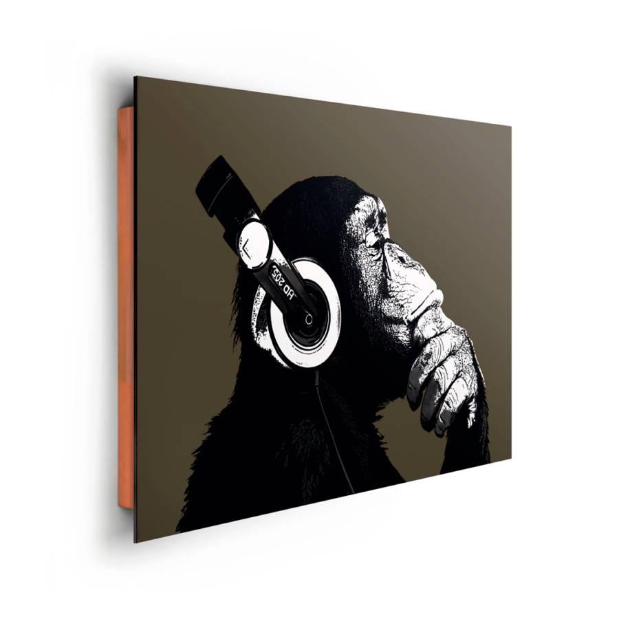 Mit Schimpanse Kopfhörer Kopfhörer Schimpanse Bild Mit Bild Kopfhörer Bild Schimpanse Mit Bild 34LRj5A